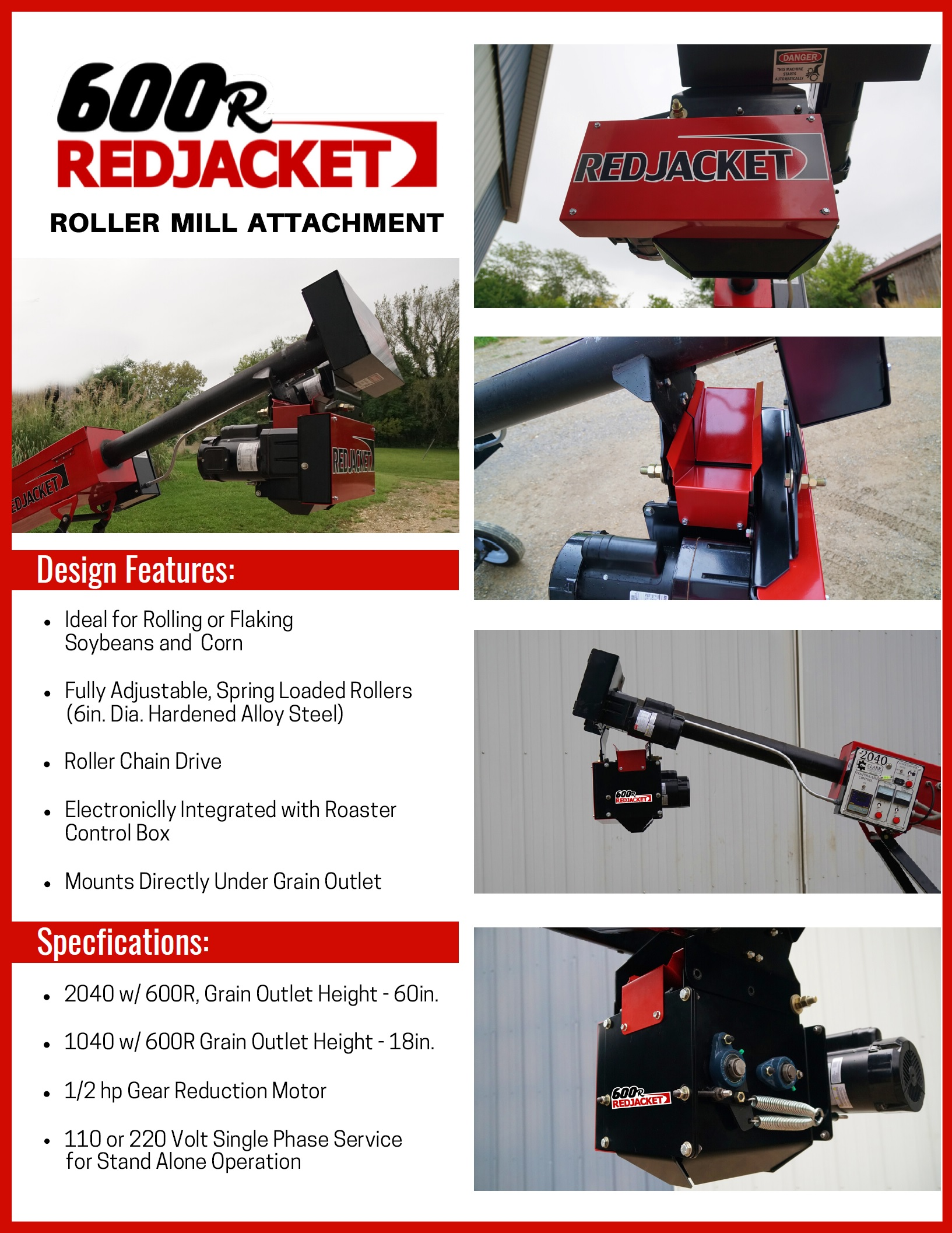 Energrow Red Jacket 600R Roller Attachment Brochure