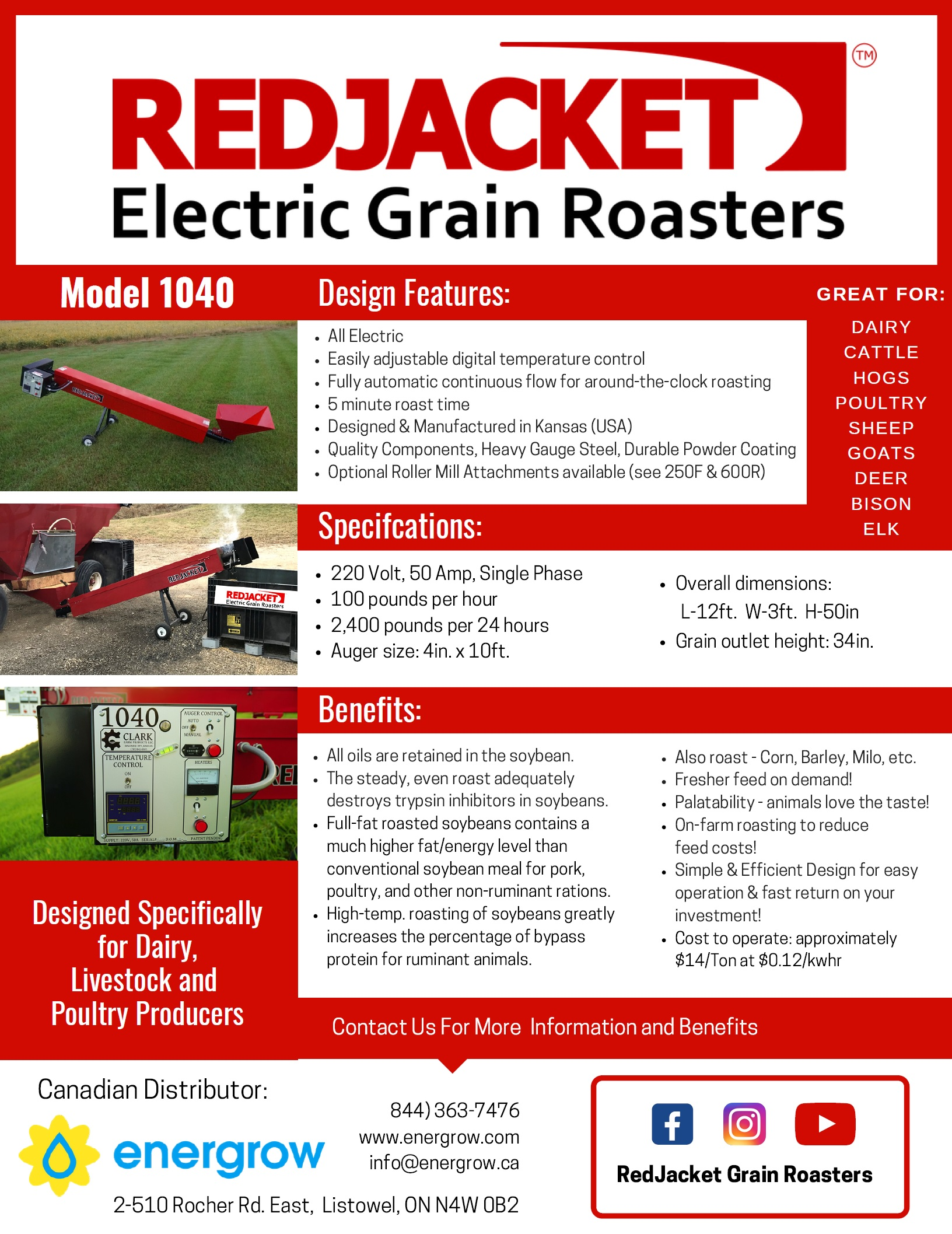 Energrow Red Jacket Roaster 1040 Brochure